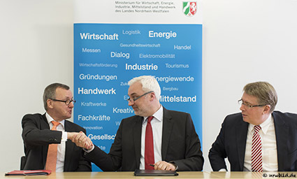 Pressekonferenz von RAG, RWE und MWEIMH NRW